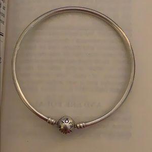 Pandora Bracelet With Clasp Charm